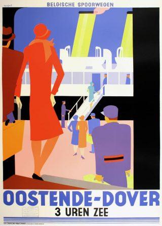 Affiche Oostende-Dover, Leo Marfurt, 1928