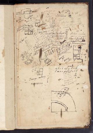 Diverse handschriften op blanco keerzijde van atlas (Vereniging Rembrandt)