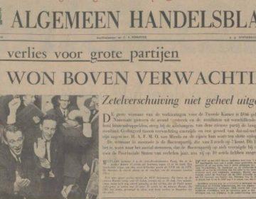 Algemeen Handelsblad over de verkiezingsuitslag (Delpher)