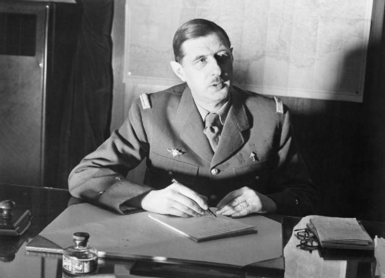 Charles de Gaulle in Londen, tijdens de Tweede Wereldoorlog