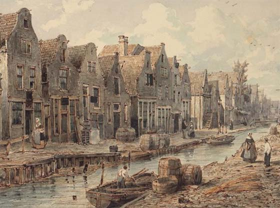 Goudsbloemgracht (ca. 1850)