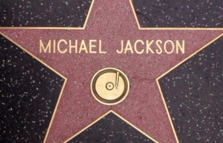 Michael Jacksons ster op de Hollywood Walk of Fame - cc