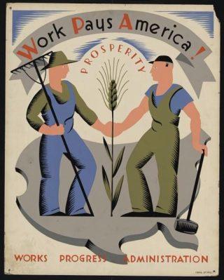Poster in het kader van de New Deal