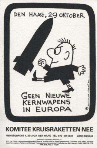 Poster van het Komitee Kruisraketten Nee