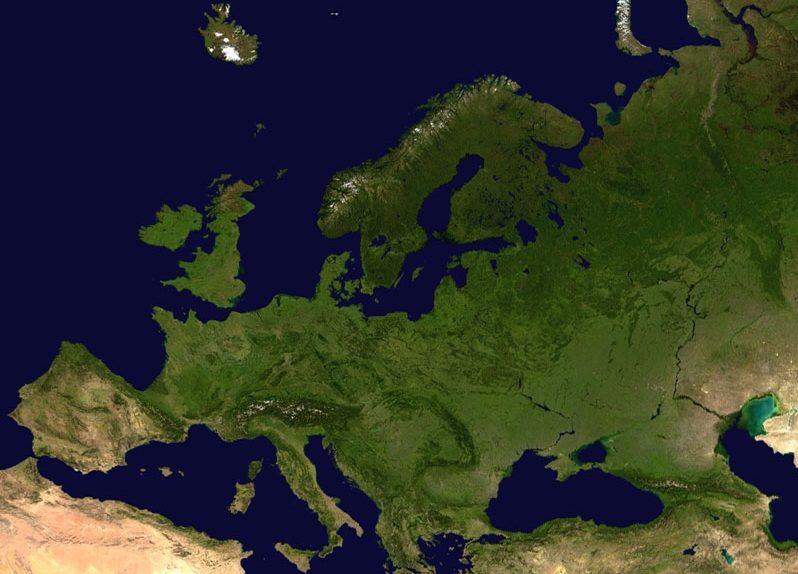 Satellietfoto van Europa - cc