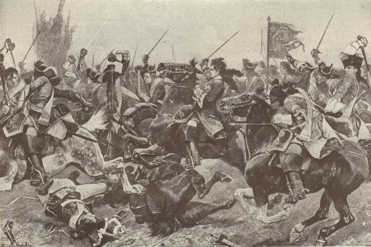 Cavalerie tijdens de Slag bij Malplaquet - cc