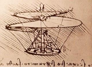 Da Vinci's tekening van de luchtschroef