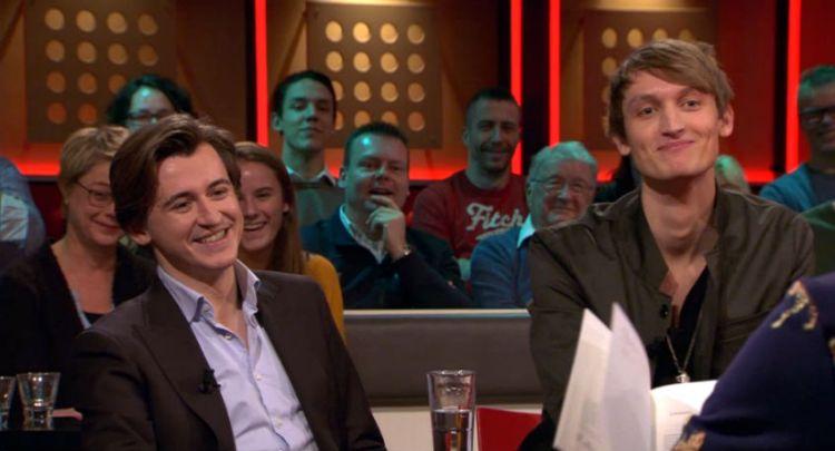 Aron Brouwer (l.) en Marthijn Wouters bij De Wereld Draait Door (eigen foto)