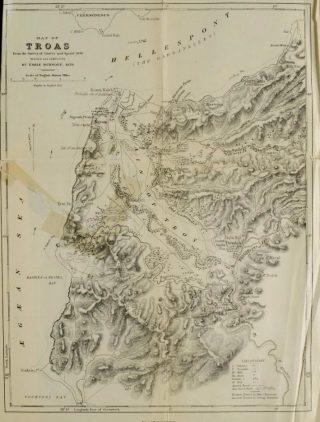 Kaart van Troje