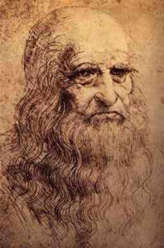 Vermoedelijk zelfportret van Leonardo da Vinci uit ca. 1512-1515