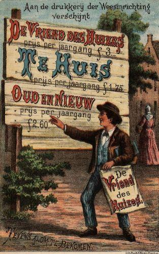 Werving Vriend des Huizes (Archief Van 't Lindenhoutmuseum)