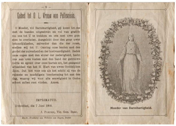 Gebed tot o.l.v. Vrouw van Pellevoisin 1909, Particuliere collectie, foto: Ruben de Heer