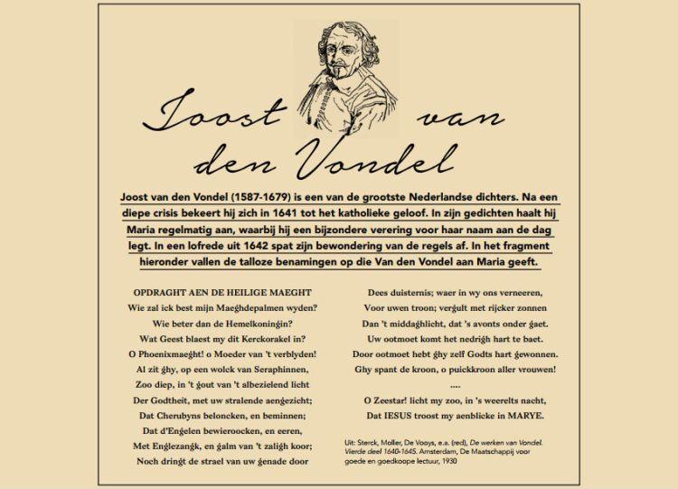Joost van Vondel over Maria. 'Geen dag zonder Maria', 8 februari