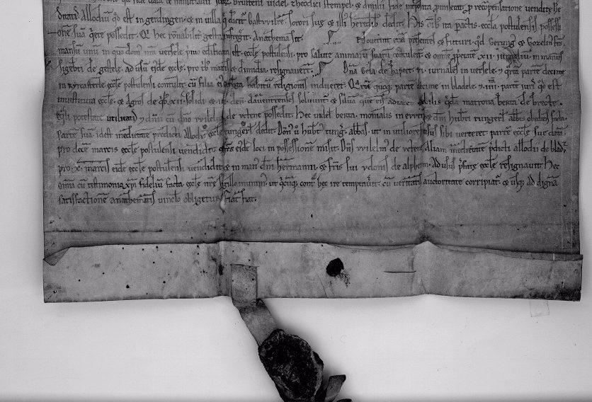Eeuwenoude charters van de abdij van Postel online raadpleegbaar