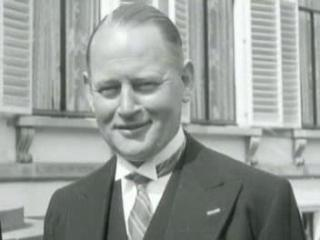 Dirk Stikker in 1948. Nederlands Instituut voor Beeld en Geluid