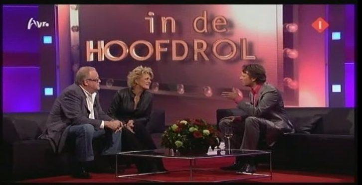 Guus Verstraete en Simone Kleinsma bij ''In de hoofdrol.' (still YouTube).