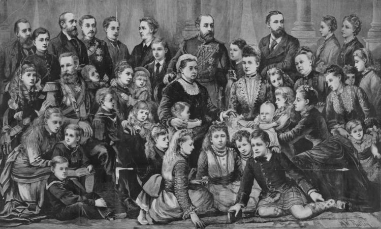 Victoria omringt door haar nazaten (1877)