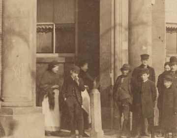 Oudemanhuispoort, Amsterdam, rond 1900
