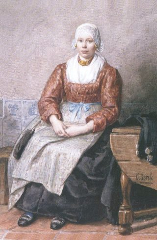 Evertje Schouten, portret door Otto Eerelman in de Koninklijke Verzameling