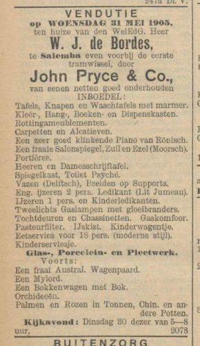Vendutie: verkoop van het huiselijk leven. - Nieuws van den dag voor Nederlandsch-Indië, 30 maart 1905