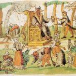 Heksensabbat, verering van de duivel in de gedaante van een bok en een kater