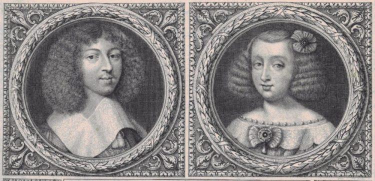 Fragment van 'Portret van Filips I en Henrietta Anne Stuart, hertog en hertogin van Orléans' door Pieter van Schuppen (1661). Rijksmuseum