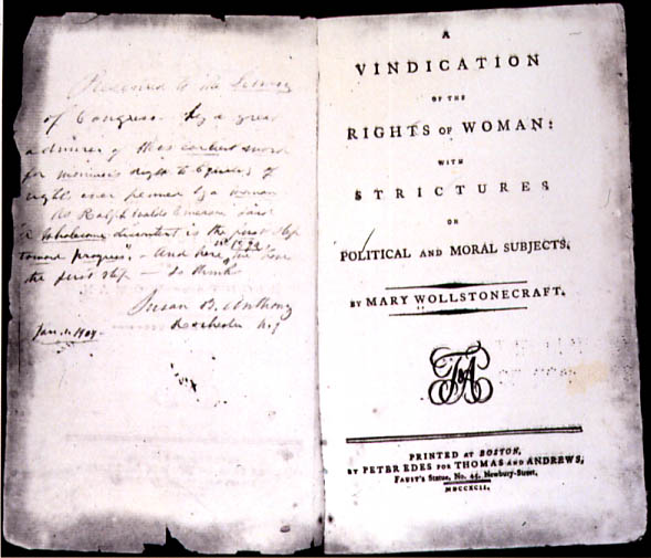 A Vindication of the Rights of Woman, 1792