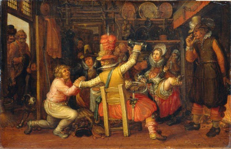 Boerenverdriet, David Vinckboons (I) (atelier van), na ca. 1619 (collectie Rijksmuseum)