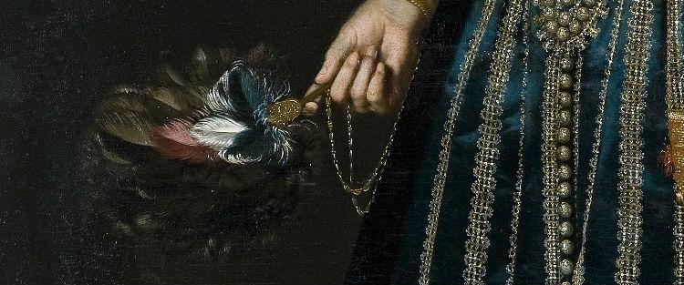 Detail van het portret van Sophia van Vervou