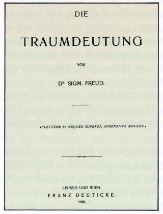 Eerste editie van 'Die Traumdeutung'
