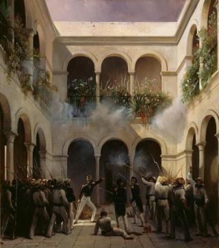 Franse troepen in Veracruz tijdens de Gebakoorlog van 1838.
