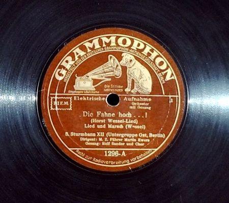 Horst Wessel-lied op een 78 toerenplaat - cc
