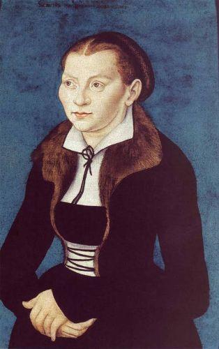 Catharina von Bora - Lucas Cranach de Oude, 1529