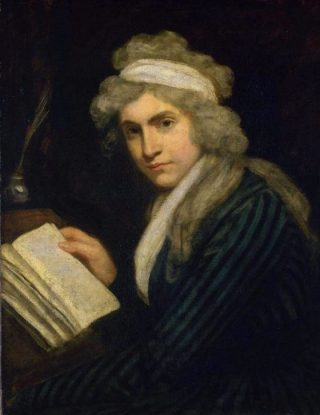 Mary Wollstonecraft in 1790-1 (John Opie)
