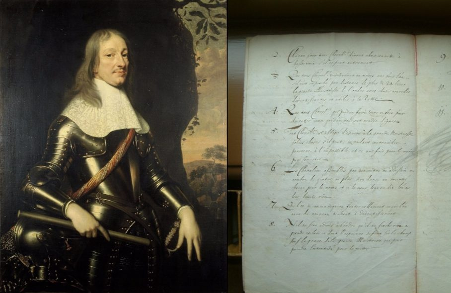 Willem Frederik van Nassau Dietz, Pieter Nason, 1664, Wikimedia Commons; deel van de statuten van de Ordre de l'Union de la Joye KV,14 AXIII, 21