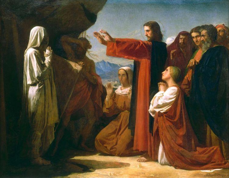 De opwekking van Lazarus, 1857 - Léon Joseph Florentin Bonnat