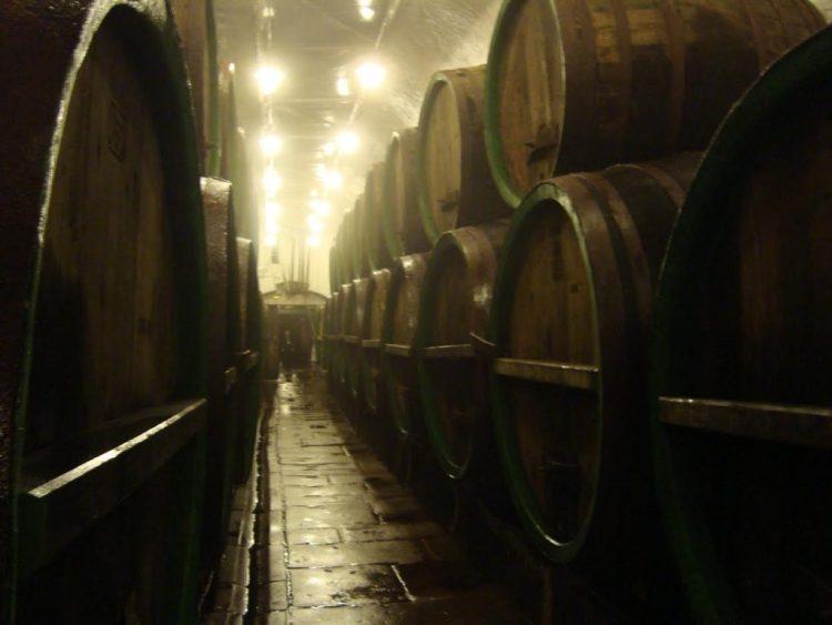 In de koele kelders onder de brouwerij. (Edwin Ruis)