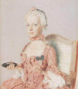 Portret in pastel door Liotard van de 7-jarige Marie Antoinette