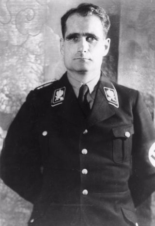 Rudolf Hess in 1935 (Bundesarchiv - cc)