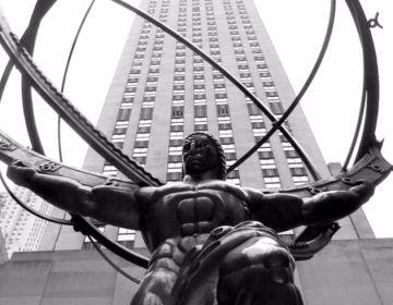 Standbeeld van Atlas in het Rockefeller Center in New York City (Lee Lawrie)