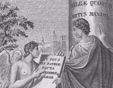 'Het is een lofrijk werk de geschiedenis van het vaderland te schrijven': Louis Dieudonné Joseph Dewez zet zich aan zijn taak.