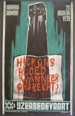 Affiche IJzerbedevaart 1939, door Jos De Swerts (wiki)