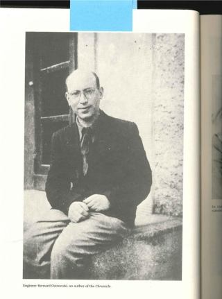 Bernard Ostrowski, de enige auteur van de kroniek die de Tweede Wereldoorlog wist te overleven. (The Chronicle of the Lodz Ghetto - Yale, 1987)