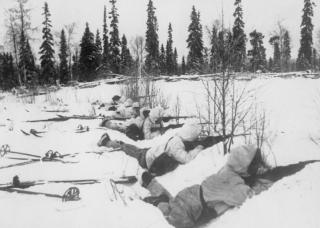 Finse skitroepen in Noord-Finland op 12 januari 1940.
