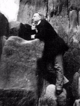 Hugo op de rotsen van Jersey (1853-1855) - Bron onbekend
