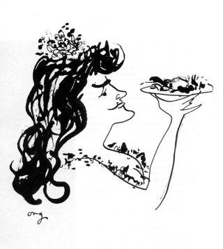 Lady Melba en de Pêche-Melba - © Henk Boudewijns – Illustratie Guus Ong