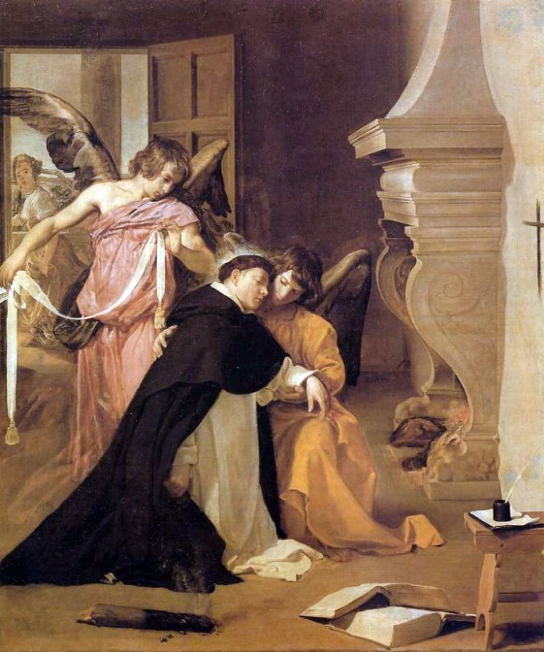 Thomas van Aquino, omringd door engelen (Diego Velázquez)
