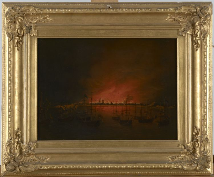 Tocht naar Chatham - The burning of Sheerness