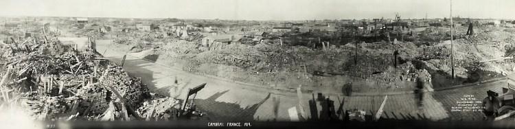 Verwoestingen in Cambrai (Foto uit 1919)