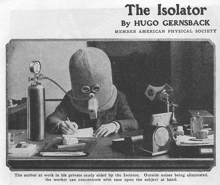 Rustig werken met deze uitvinding uit 1925